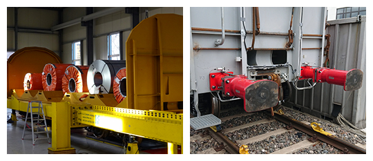 Structural strength test and buffing impact tests on a coil transport wagon